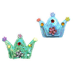 Crown Barettes - Blue & Green
