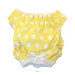 Panties - Yellow with White Dots