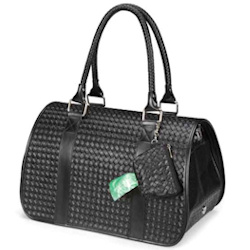 Basket Waeve Design Carrier - Black