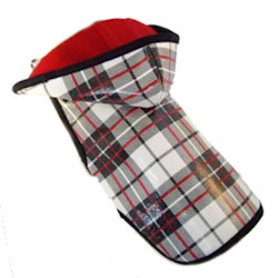 Plaid Rain Coat - Black White & Red