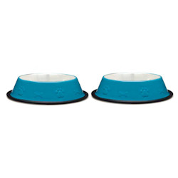 BOWLS SET BONES & PAW - BLUE (ProSelect)