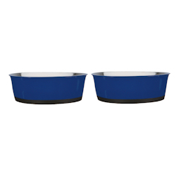 HEAVY BOTTOM STAINLESS BOWLS SET - BLUE (ProSelect)