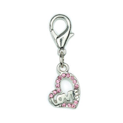 Charm - Love Heart - Small - Pink