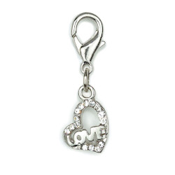 Charm - Love Heart - Small - Clear