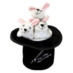 ACTIVITY TOY - 3 BUNNIES IN A HAT ()