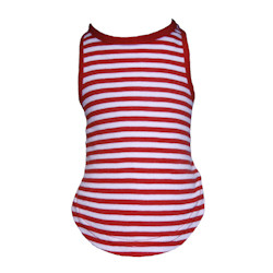 Red & White Striped Tank