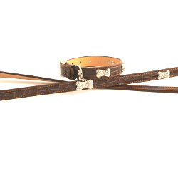 Exclusive Leather Collar & Leash Set - Brown
