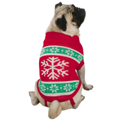 YULETIDE SNOWFLAKE SWEATER (Casual Canine)
