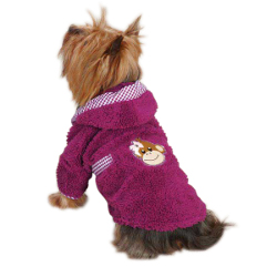 Monkey Chenille Bathrobe - Purple