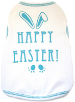HAPPY EASTER TANK - WHITE/AQUA (ISS)