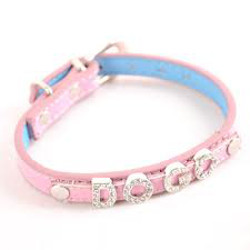 LEATHER COLLAR FOR CHARM LETTERS - PINK (DOGO)