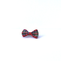 Checkered Bow - Red