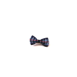 Checkered Bow - Blue