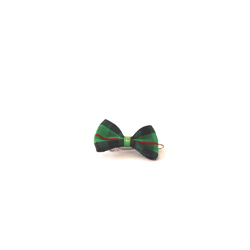 Checkered Bow - Green