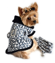Fleece with matching Leash - Leopard