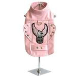 BORN TO RIDE MOTORCYCLE JACKET - PINK  (Doggie Design)