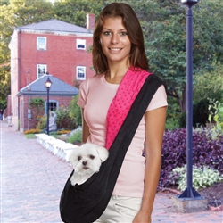 SLING CARRIER - PINK & BLACK (ESC)