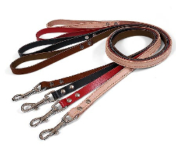 LEATHER LEASH - BLACK ()