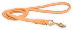 ROUND LEATHER LEASH - BEIGE ()