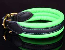 Superior Leather Collar Plus - Green