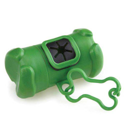 Bone Shaped Holder with Poop Bags - Green