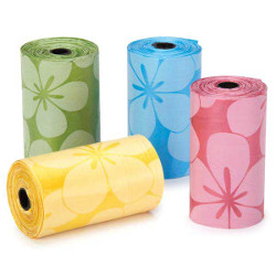Flower Poop Bags - Yellow