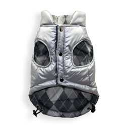 REVERSIBLE PUFFER VEST - SILVER/GREY (Hip Doggie)