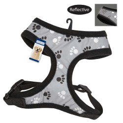 REFLECTIVE PAWPRINT HARNESS (Casual Canine)
