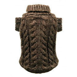 Cable Knit Sweater - Chocolate