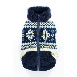 Soft Snowflake Fleece Vest - Navy