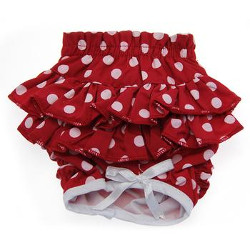 Panties - Red with Pink Dots