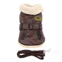 Bomber Dog Coat - Brown