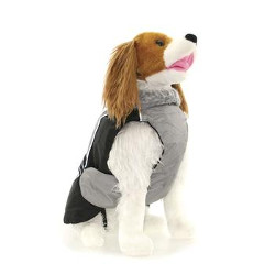 All Weather Dog Coat - Grey/Black