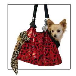 Dog Tote Pete Carrier - Red