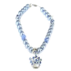 NECKLACE CROWN - BLUE ()