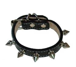 COOL SPIKES COLLAR - BLACK ()