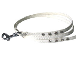 RHINESTONE LEASH - WHITE ()