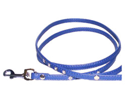 RHINESTONE LEASH - BLUE ()