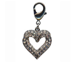 Charm Hearts - Silver