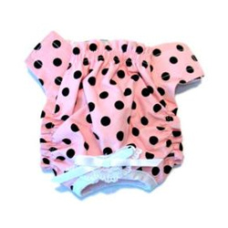 Panties - Pink with Black Dots